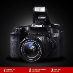 The #CanonEOS   70D is the first DSLR in the world to feature the revolutionary Dual Pixel CMOS AF, for unmatched focus speed and precision in live view and video mode.   With a 20.2MP APS-C CMOS sensor, DIGIC 5+ processor, 19-Point All Cross-Type AF, the EOS 70D is the perfect mix of features and performance: http://www.imagestore.co.in/canon-eos-70d-kit-ef-s18-55-is-stm-digital-slr-camera.html