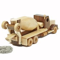 Construction-Grade Concrete Truck Woodworking Plan, Toys & Kids Furniture