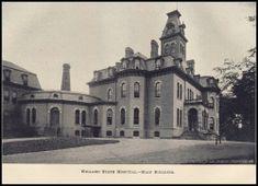 NY, Willard State Hospital - Main building, demolished in Mental Asylum, Insane Asylum, Abandoned Asylums, Abandoned Places, Haunted Places, Abandoned Buildings, Willard Asylum, Typhoid Fever, Psychiatric Hospital