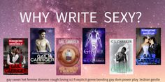 Why Write Sexy? High Heat in Genre Fiction (Important for Authors) - Gail Carriger