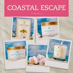 Introducing Coastal Escape! Succumb to the allure of the tropics, in this relaxing summer scent collection! Enjoy the warm aromas of sunny afternoons, bright sand beaches and island blooms with each of our hand-crafted candles and body products. Depart to lazy vacation days and ocean mists strolls in an instant- anywhere, anytime! Shop here www.jewelscent.com/amcjewelscent