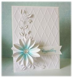 White #3 Flower by frenziedstamper - Cards and Paper Crafts at Splitcoaststampers