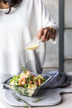 Sweet Home Sweet Home Best Salad Recipes, Raw Food Recipes, Healthy Recipes, Think Food, Love Food, Eating Light, Fish Salad, Main Dish Salads, Sweet Home