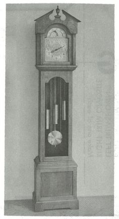 R-ANH1336+-+Grandfather+Clock+with+Break-Arch+Vintage+Woodworking+Plan.