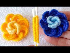 kulak çöpü ile muhteşem gül yapımı Rose flomer crochet - YouTube Crochet Flower Tutorial, Crochet Flower Patterns, Easy Crochet, Crochet Flowers, Hand Embroidery Videos, Hand Embroidery Tutorial, Hand Embroidery Patterns, Woolen Flower, Finger Crochet