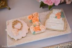 Cookies from a Pink + Gold 1st Birthday Party via Kara's Party Ideas | KarasPartyIdeas.com (39)