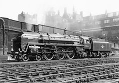 70036 'Boadicea' on the servicing road at Liverpool Street, 1957.