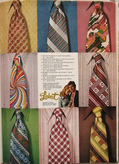 loud, wild, wide ties - 1970s - My Dad had some of these ties.