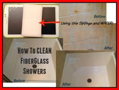 How to Clean Fiberglass shower and bathtubs... CHEAP, easy and it WORKS! No chemicals!
