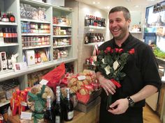 Chocolate roses for Valentine's Day at Carluccio's Deli, Milsom Place.