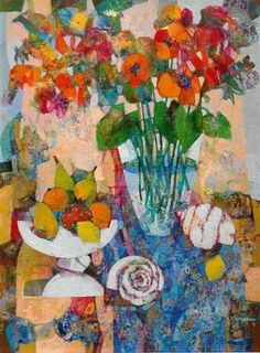 SOLD: 'Still Life With A Bouquet', 80 cm x 60 cm