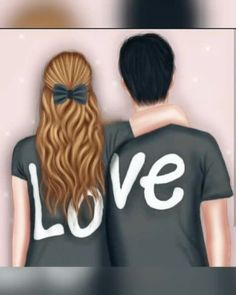50 romantic quotes in english arabic love quotes, inspirational quotes abou Love Cartoon Couple, Cute Love Cartoons, Cute Love Couple, Anime Love Couple, Cute Anime Couples, Girly M, Cute Couple Drawings, Girly Drawings, Cute Girl Drawing