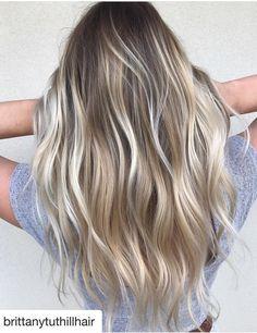Nice blonde balayage