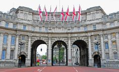 """""""Admiralty Arch"""" is a large office building in London which incorporates an archway providing road and pedestrian access between The Mall, which extends to the South-West, and Trafalgar Square to the North-East."""