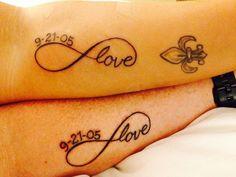 Infinity Couple Tattoos Couples tattoo infinity