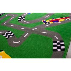 Race Car Room Rug, 5'x8'