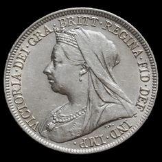 1897 Queen Victoria Veiled Head Silver Shilling – EF