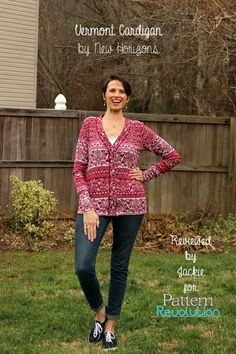 The Vermont Cardigan from New Horizons Patterns