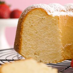 Cream Cheese Pound Cake is a slight twist on the classic recipe and is dense, sw.Cream Cheese Pound Cake is a slight twist on the classic recipe and is dense, sweet, and tender and the only pound cake recipe you will ever need! Serve it plain or w Pound Cake Recipes, Easy Cake Recipes, Sweet Recipes, Baking Recipes, Dessert Recipes, Cheesecake Pound Cake Recipe, White Cake Recipes, Japanese Cheesecake Recipes, Cake Boss Recipes