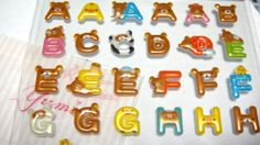 "$3.50   Rilakkuma very cute Alphabet Stickers ""RILAKKUMA""genuin san-x stationary NIB"