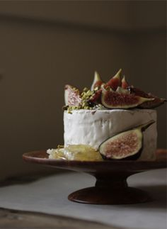 cheese, figs, honey, pistachios