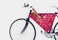 Reel Bike Storage System by Yeong Keun Jeong. - Design Is This Bike Storage Systems, Bike Storage Solutions, Bicycle Storage, Blog Da Ju, Pimp Your Bike, Velo Design, Bike Bag, Blog Deco, Bike Frame