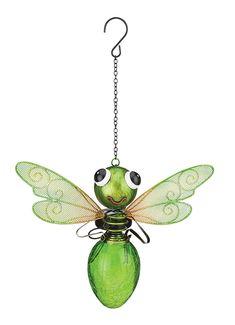 Regal Art & Gift Solar Dragonfly Lantern - Green