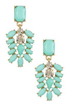 Mint Dangle Earrings from HauteLook on shop.CatalogSpree.com, your personal digital mall.