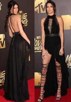 Kendall Jenner at the 2016 MTV Movie Awards held at the Warner Bros. Studios in Los Angeles on April 9, 2016
