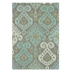 See the softer side of Ikat in this soothing palette of blues, golds, and creams. Micah Rug, $299.95 - $699.95
