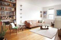 Love the planes on wall - Kasia's White & Bright Home in Brooklyn
