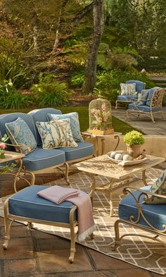 Punch bowl color pure retro chic in airy bent rattan and for Outdoor furniture new orleans