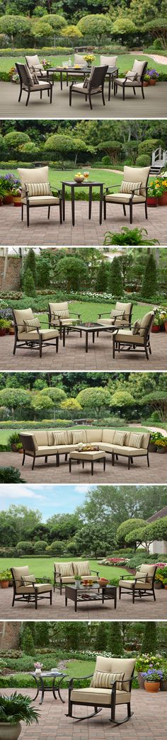 Check out our NEW Shutter Collection of outdoor furniture! Choose from our 7-piece Dining Set, 3-piece Bistro Set, 5-piece Fire Pit Chat Set, 7-piece Sectional Sofa, 4-piece Conversation Set, Rocking Chair & more.