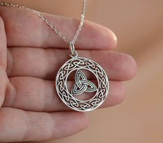 ⭐All Sterling Celtic Triquetra Necklace, Celtic jewelry, Celtic Knot, sterling jewelry on Etsy, $40.53 CAD