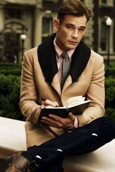 An elegant coat to defines men classic style #fauxcollar #mencoats #winter