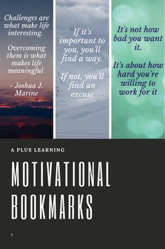 Motivational Bookmarks For Studying Classroom Organization, Classroom Management, Motivational Pictures, Motivational Quotes, School Resources, Classroom Resources, Study Help, Study Motivation, Teacher Pay Teachers