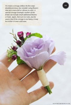 Ease DIY Boutonnieres and Corsages | with gorgeous blooms from @Flower Muse http://www.flowermuse.com/