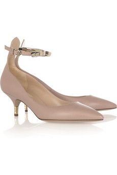 Embellished leather pumps by Valentino