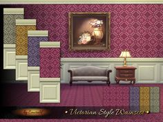 The Sims Resource: Victorian Style Wainscot by Emerald • Sims 4 Downloads