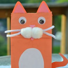 This cat paper bag puppet is a super cute craft to make with toddlers and preschoolers. It's the perfect activity when you're studying the letter C.