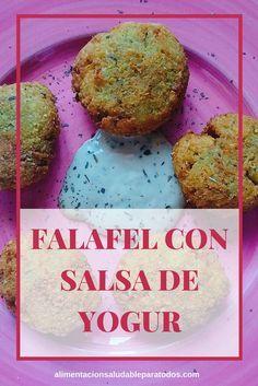 Receta de Falafel con salsa de yogur. Receta vegetariana y sin gluten. Ideal para meal prep #mealprep #falafel