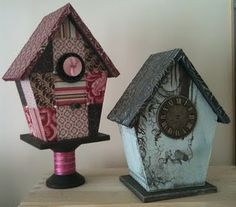 I'd live in this birdhouse (one on right).