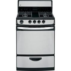 GE 25 in. 3.0 cu. ft. Gas Range in Stainless Steel-JGAS02SENSS - The Home Depot
