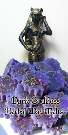 Herb Loaded Dark Goddess Wax Melt Tarts for by CrowCrossroads, $4.75