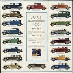 Buick Straight-Eights - Foldout [b].Pamphlet for Buick 1932..i wish i could have all these choices