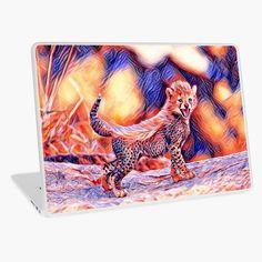 'Cheetah cub' Laptop Skin by Juaco Cheetah Cubs, Macbook Air 13, Laptop Skin, Vibrant Colors, My Arts, Art Prints, Printed, Awesome, Artist