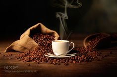 Bag coffee beans & cup by aantonn14 #food #yummy #foodie #delicious #photooftheday #amazing #picoftheday