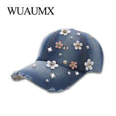 Women's Hats Apparel Accessories Friendly High Quality Wholesale Retail Joymay Hat Cap Fashion Leisure Rhinestones Vintage Jean Cotton Dots Denim Caps Baseball Cap B225