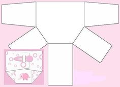 Molde pañal para invitacion Baby Shower   MI BEBE   Pinterest