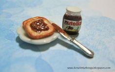 Dollhouse Miniature Nutella Toast